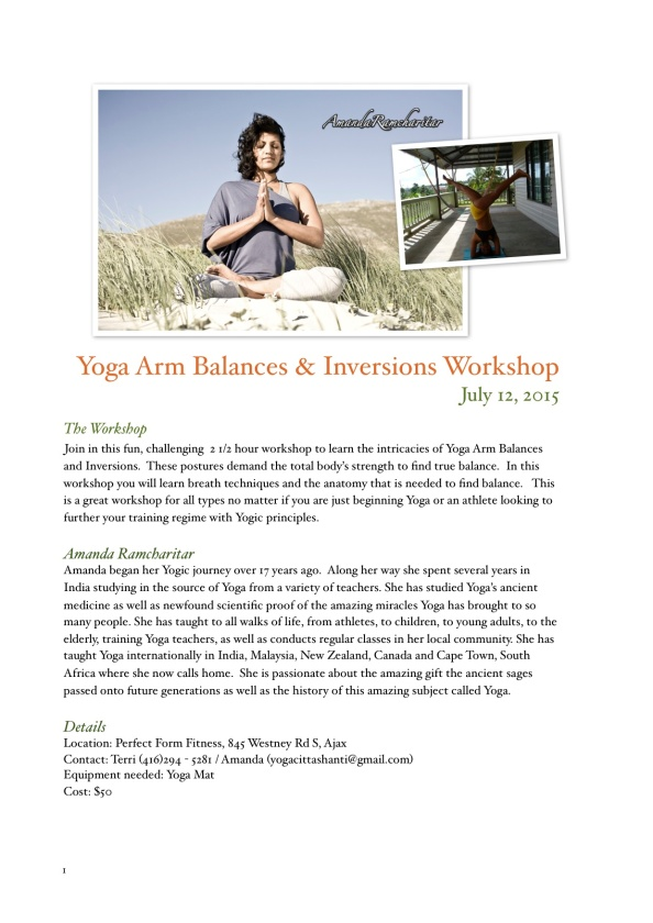 Arm Balancing Workshop
